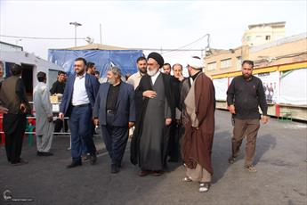 تصاویر/ بازدید تولیت آستان مقدس حضرت فاطمه معصومه(س) از محل اسکان زائرین اربعین