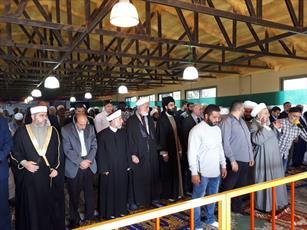 اندیشمندان جهاناسلام در نزدیکی مرز فلسطین اشغالی نماز جمعه وحدت خواندند +تصاویر