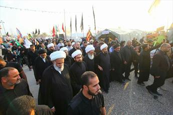 آیت الله العظمی بشیر نجفی در پیاده روی اربعین حضور یافت+ تصاویر
