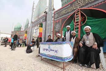 برپایی دو موکب فرهنگی و صلواتی بوشهر در حرم حضرت زینب (س)