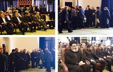 حضور فرماندهان ارشد جبهه مقاومت در مراسم پدر سردار سلیمانی+ عکس