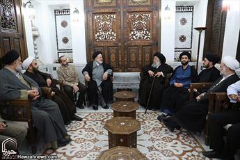 تصاویر/ دیدار آیت الله موسوی جزایری  با علمای سوریه
