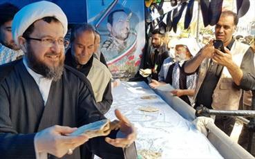 عکس: حجت الاسلام والمسلمین ماندگاری خادم زوار حضرت ارباب