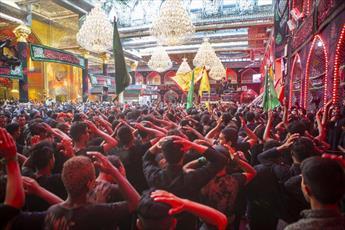 دسته های عزاداری مراسم اربعین حسینی را در کربلا آغاز کردند+ تصاویر