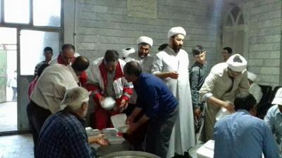 اهدای مواد غذایی و پتوهای موکب اربعین خراسان شمالی به زلزلهزدگان غرب کشور
