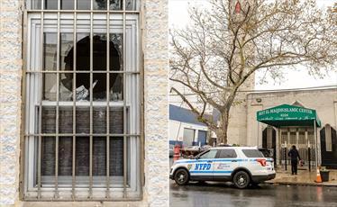 مردی با تبر به مرکز اسلامی بیت المقدس در بروکلین حمله کرد