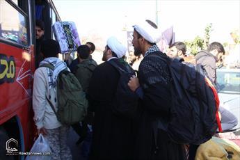 ۳۰۰ نفر از طلاب و روحانیون حوزه علمیه قم  به مناطق زلزله زده  اعزام شدند