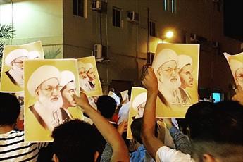 شب گذشته مردم بحرین در حمایت از شیخ عیسی قاسم به خیابان ها آمدند+ تصاویر