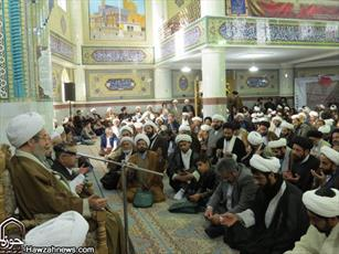 تصاویر/ گردهمایی ائمه جماعات و روحانیون اصفهان با آیت الله مقتدایی