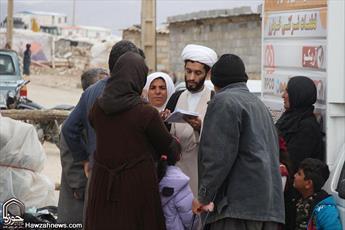 تصاویر/ فعالیت تبلیغی-جهادی طلاب مدرسه  الغدیر اهواز در روستای زلزله زده علیا