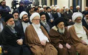 حضور دو مرجع تقلید در افتتاحیه مدرسه دارالعلم آیت الله العظمی خویی+ تصاویر