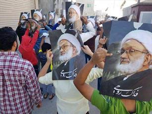 مردم بحرین علی رغم محاصره نیروهای نظامی مقابل مسجد الدراز تجمع کردند
