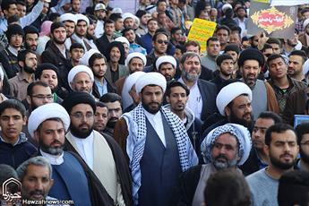 راهپیمایی روحانیون و جوانان اهوازی+ عکس