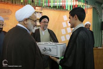 تصاویر/ مراسم تجلیل از پژوهشگران برتر مدرسه علمیه علوی