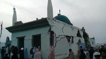 """تخریب مسجد """"گردی غوث"""" در ننگرهار بر اثر انفجار بمب"""