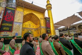 مراسم شهادت حضرت فاطمه(ع) در حرم امیرالمؤمنین(ع) برگزار شد+ تصاویر