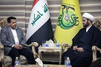 وزیر کشور عراق با فرمانده مقاومت اسلامی نجبا دیدار کرد +تصاویر