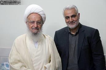 عکس / دیدار سردار سلیمانی با آیت الله العظمی مکارم شیرازی