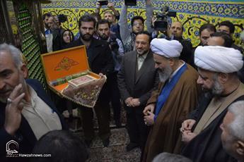 تصاویر/ مراسم غبار روبی حرم  سلطان علی بن محمد باقر(ع)