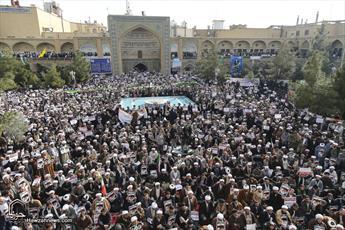 تجمع بزرگ حوزویان علیه مواضع خصمانه آمریکا