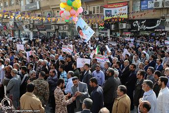 تصاویر/ خیزش انقلابی مردم اهواز در یوم الله ۹ دی ۹۶