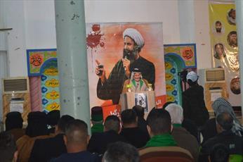 مراسم یادبود شهید شیخ نمر در کربلا برگزار شد