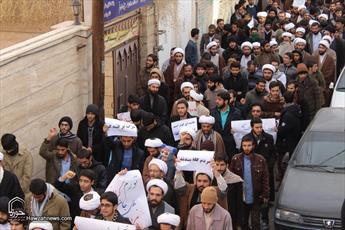 تصاویر/ تجمع طلاب و روحانیون  در حمایت از مطالبات مردم و محکومیّت اقدامات آشوبگران