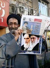 عکس: رسانه رسمی حوزه در دست مردم انقلابی قم