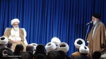 تصاویر/ دیدار طلاب همدانی با آیت الله العظمی نوری همدانی
