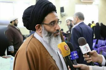 حضور نماینده مقام معظم رهبری در میان مردم و علمای حمص سوریه+تصاویر