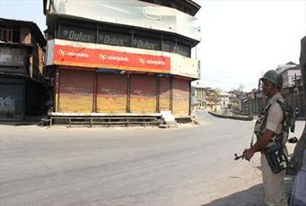 برگزاری اعتصاب عمومی در کشمیر در اعتراض به کشته شدن چند مسلمان