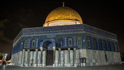 اسرائیل عمدا قبة الصخرة را در تاریکی فرو برده است