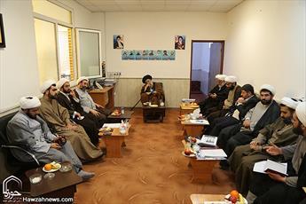 نشست شورای معاونین حوزه علمیه خوزستان با آیت الله موسوی جزایری