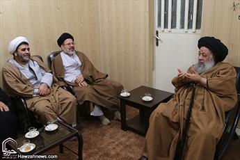 مسئول دفتر موقوفات حوزه های علمیه با آیت الله موسوی جزائری دیدار کرد