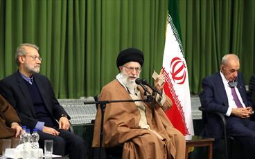 صوت/ بیانات رهبر انقلاب در دیدار میهمانان اجلاس بین المجالس کشورهای اسلامی