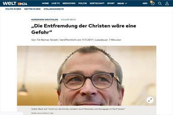 نماینده حزب سبز آلمان بیگانگی مسیحیان با جامعه خود را یک خطر دانست