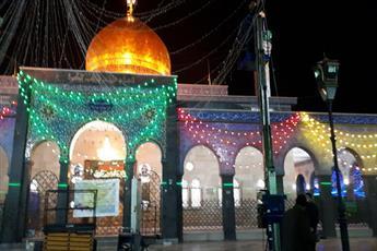 حرم حضرت زینب(ع) آذین بندی شد+تصاویر