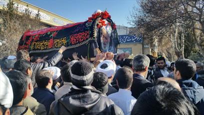 پیکر آیت الله عبودیّت در اصفهان تشییع شد+ عکس