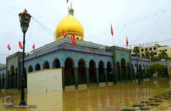 عکس/ حرم مطهر حضرت زینب(س) پس از بارش باران