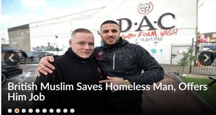 مرد مسلمان انگلیسی گدای بی خانمان را نجات داد