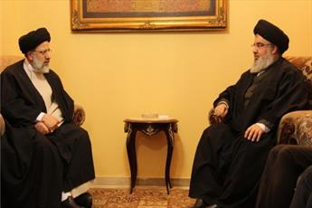 حجت الاسلام و المسلمین رئیسی با دبیرکل حزب الله لبنان دیدار کرد