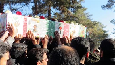 پیکر شهید مدافع حرم در کرمان تشییع شد