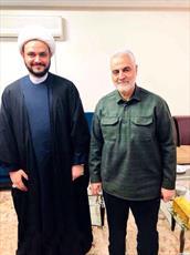 دیدار دبيركل مقاومت اسلامى «نُجَباء» با سردار سلیمانی+ عکس