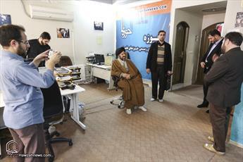 تصاویر/ بازدید حجت الاسلام والمسلمین بطحائی از رسانه رسمی حوزه