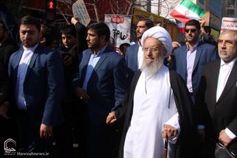 تصاویر/ حضور علما و مراجع تقلید در راهپیمایی تماشایی ۲۲بهمن