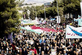 تصاویر/ راهپیمایی تماشایی مردم بیرجند در یوم الله ۲۲ بهمن