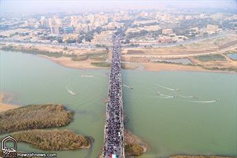 تصاویر هوایی راهپیمایی ۲۲ بهمن در اهواز