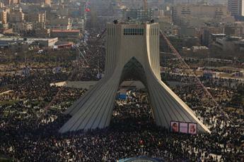 تصاویر هوایی راهپیمایی مردم تهران در ۲۲ بهمن ۱۳۹۶