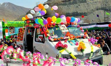 تصاویر/ راهپیمایی ۲۲ بهمن در منطقه کرگل هند