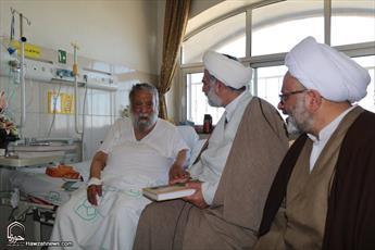 مسئولان  حوزه علمیه اصفهان  از آیت الله مستجابی عیادت کردند+ عکس